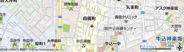 東京都新宿区南榎町周辺の地図