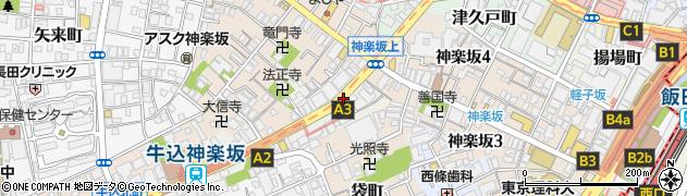 東京都新宿区岩戸町周辺の地図
