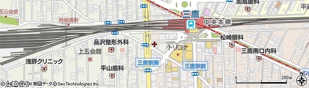 車 三鷹店周辺の地図