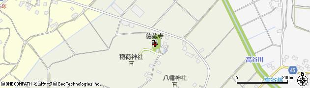 徳藏寺周辺の地図