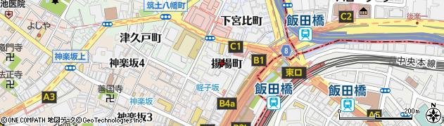 東京都新宿区揚場町周辺の地図