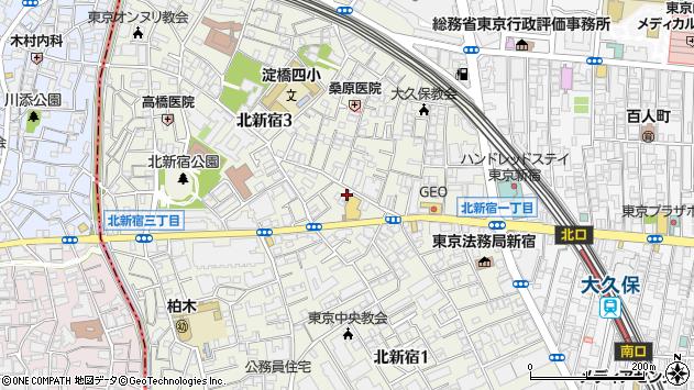 〒169-0074 東京都新宿区北新宿の地図