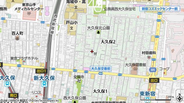 〒169-0072 東京都新宿区大久保の地図