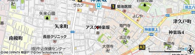 東京都新宿区矢来町周辺の地図