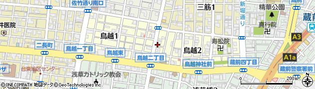 東京都台東区鳥越周辺の地図