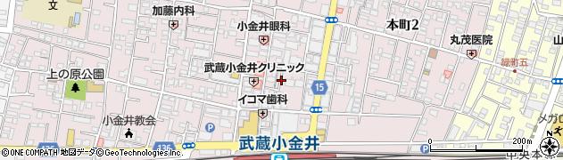 ビー周辺の地図