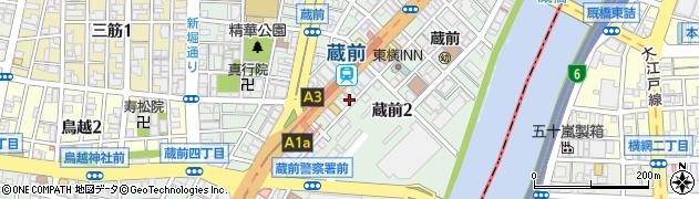 東京都台東区蔵前周辺の地図