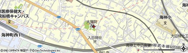 大覚院(あかもん寺)周辺の地図