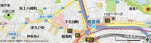 東京都新宿区下宮比町周辺の地図