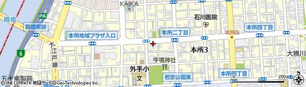 東京都墨田区本所周辺の地図