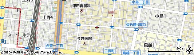 東京都台東区台東周辺の地図