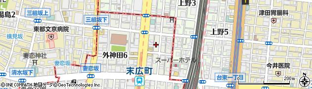 東京都千代田区外神田5丁目周辺の地図
