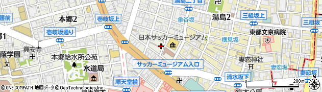 湯島不動尊周辺の地図
