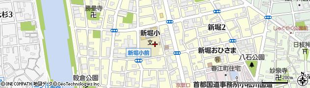 東京都江戸川区新堀周辺の地図