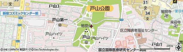 東京都新宿区戸山周辺の地図
