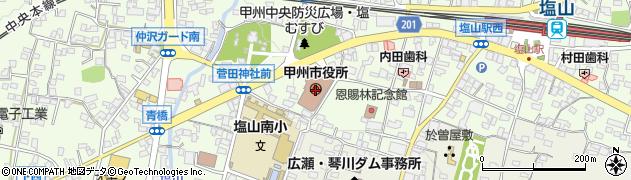 山梨県甲州市周辺の地図