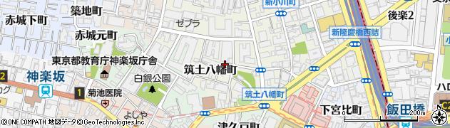 東京都新宿区筑土八幡町周辺の地図