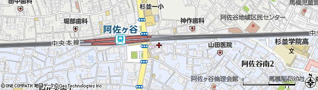餃子の王将阿佐ヶ谷駅南口店周辺の地図
