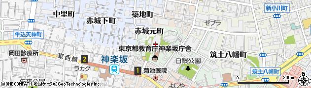 東京都新宿区赤城元町周辺の地図