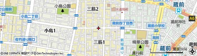 東京都台東区三筋周辺の地図