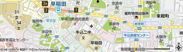東京都新宿区早稲田南町周辺の地図