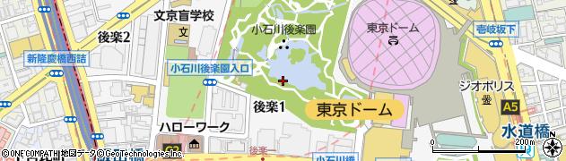 東京都文京区後楽周辺の地図