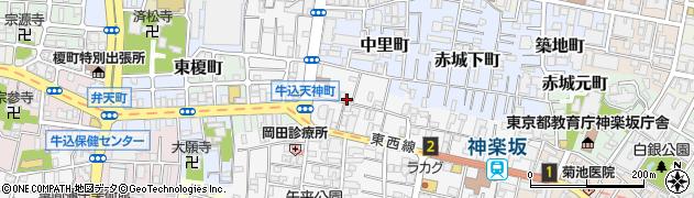 東京都新宿区天神町周辺の地図