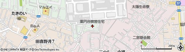 薬円台県営住宅周辺の地図