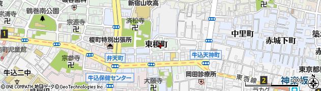 東京都新宿区東榎町周辺の地図