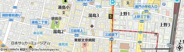 藤和湯島コープ周辺の地図