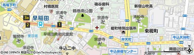 東京都新宿区早稲田町79-2周辺の地図