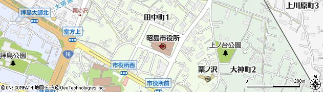東京都昭島市周辺の地図
