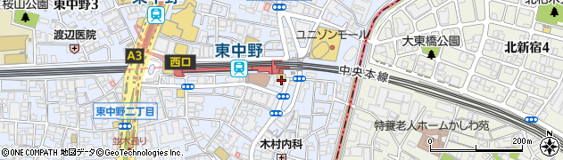 大盛軒周辺の地図