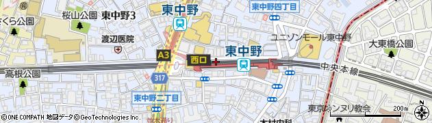 東京都中野区東中野周辺の地図