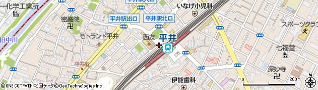 サンドイッチヤマザキ平井店周辺の地図
