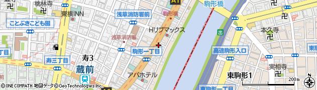 東京都台東区駒形周辺の地図