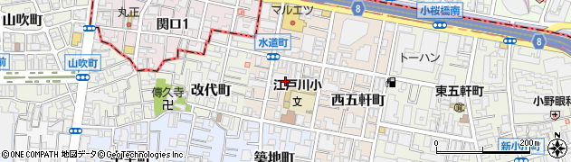 東京都新宿区水道町周辺の地図