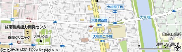 東京都江戸川区大杉周辺の地図