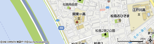東京都江戸川区松島周辺の地図
