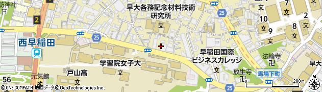 東京都新宿区西早稲田2丁目7周辺の地図