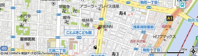 東京都台東区寿周辺の地図