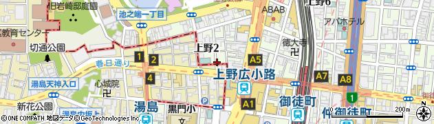 とら八上野店周辺の地図