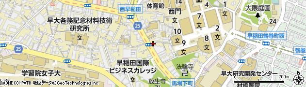 東京都新宿区西早稲田1丁目3-6周辺の地図