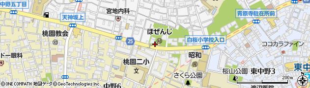 天徳院周辺の地図