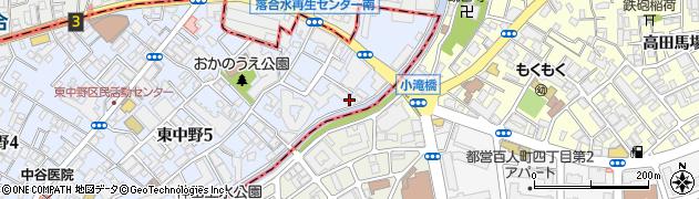 東中野ハイム周辺の地図