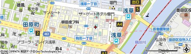 東京都台東区雷門周辺の地図