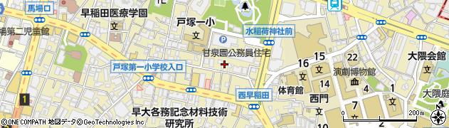 東京都新宿区西早稲田周辺の地図