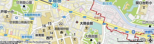 都営早稲田アパート周辺の地図