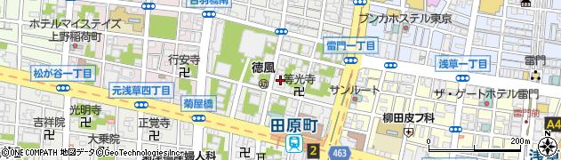 通覚寺周辺の地図