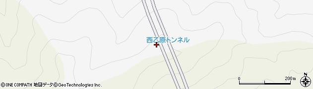 西乙原トンネル周辺の地図